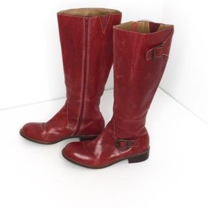 Schuler and Sons Red Leather Riding Boots 7.5